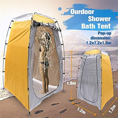 JSYYSJ Outdoor Privacy Privacy Tent Tent Shower Tent Dressing Tent, Waterproof Portable Up Toilet Tents For Camping, Beach Changing Room Shelter Canopy, Baby Outdoor Backpack Shelter Canopy Travel Ten