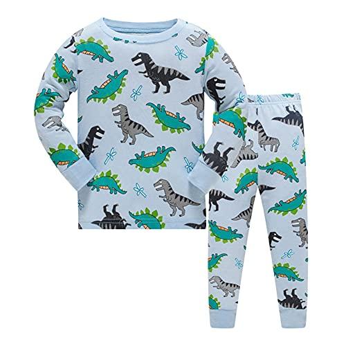 Ceguimos Pijamas de Manga Larga para niños 100% Algodón, Dinosaurio, 6-7 años (Talla del...