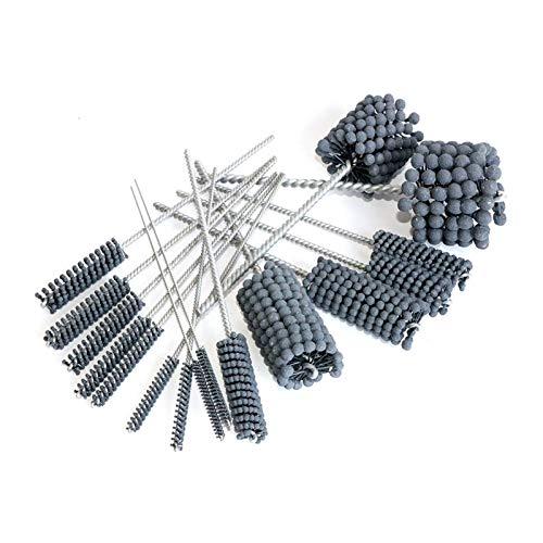 1 pieza de tubo abrasivo bola Deburring cepillo de pulido pipa de la cabeza de pulido Cepillo XIAO DIAO (Grit : 16mm)