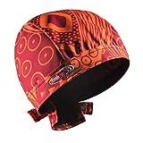 Bandana con nastro, ideale per proteggere dagli odori della stalla, adatta per ogni acconciatura e lunghezza dei capelli Arancione/Rosso L