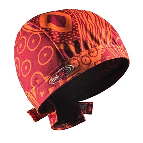 Stall-Mütze mit Bändern | schützt zuverlässig vor Stallgeruch | für jede Frisur und Haarlänge geeignet (orange-rot, M)