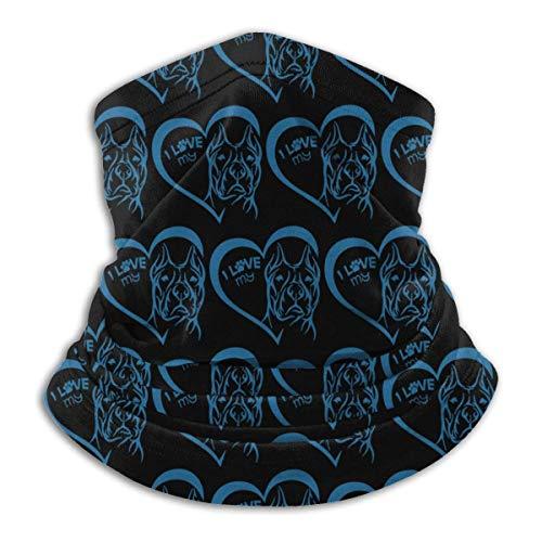 Cache-Cou J'aime Mon cœur Pit Bull Neck Warmer Gaiter Headwear Face Scarf Mask