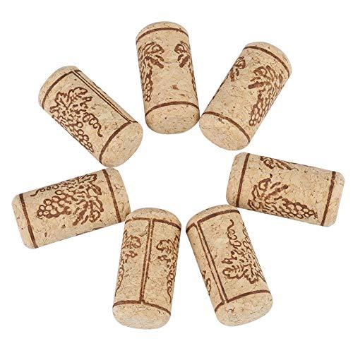 Sughero naturale for vino - 100PCS 22 * 44mm Sugheri dritti in sughero naturale, Conservatore for vino naturale, Tappo for bottiglia di vino in legno Conserva regali freschi for gli amanti del vino