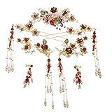 YNYA Diademe Brautkrone Stirnband Kostüm Kopfbedeckung Hochzeit Einfache chinesische Hanfu Fengguan Haarschmuck Xia Wei Kopfschmuck Hochzeitsschmuck