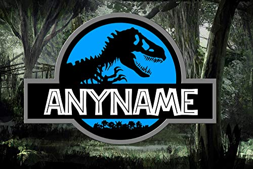 Pixy Ink Boys Jurassic Dinosaur Personalized Poster with Your Name!