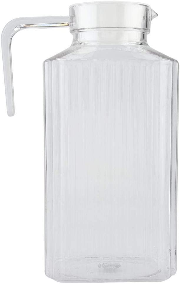 Acrylic Transparent Juice Bottle Striped Water Ice Cold Juice Jug with Lid Great for Homemade Juice /& Cold Tea or for Glass Milk Bottles Reusable Drinking Bottles 800ML