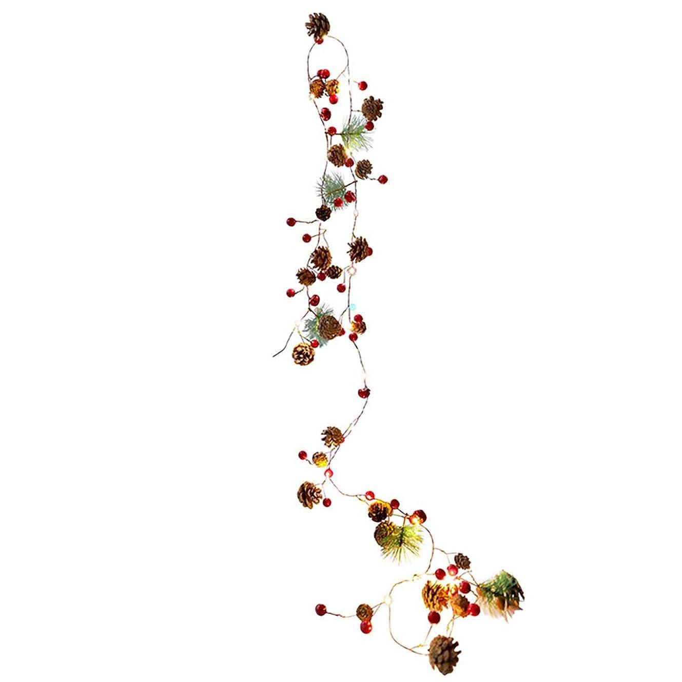 洞窟緊急これまでクリスマス ストリングライト 暖かい雰囲気 可愛 クリスマスツリー 装飾 珠子 ベル LED灯飾り マツカさ パーティー装飾 (タイプ1)