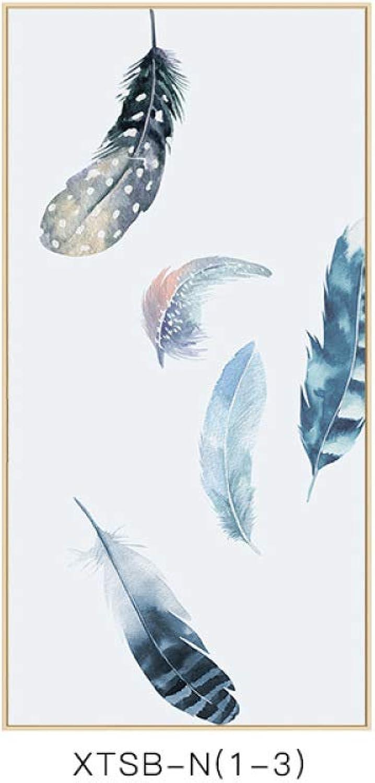 calidad auténtica DEED Serie de la la la Pluma Pintura Minimalista Moderna del patrón de la Pluma, Estilo Elegante Sala de EEstrella Mural, Pintura de la decoración de la Entrada del Dormitorio  primera reputación de los clientes primero