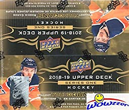 2018/19 Upper Deck Series 1 NHL Hockey MASSIVE Factory Sealed 24 Pack Retail Box with 192 Cards & Game Jersey Card! Includes SIX(6) YOUNG GUN ROOKIES, 3 Canvas Cards & 4 Portrait Inserts! WOWZZER!