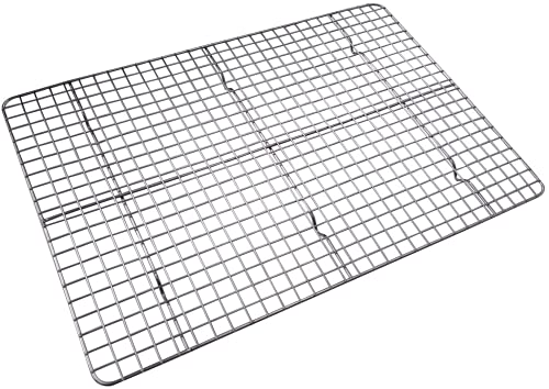 Checkered Chef Cooling Rack - 17' x 12' Oven Safe Stainless Steel Baking Rack for Cooking