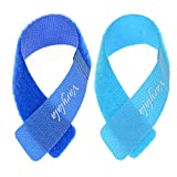 ColorYourLife 20 PCS Reusable Fastening Cable Ties with Microfiber Cloth in Retail Packaging - 7' (Royal Blue and Aqua Blue)