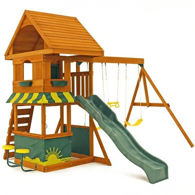 KidKraft Magnolia Cedar Wood Swing Set / Playset...
