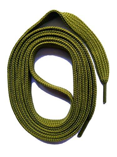 SNORS flache Schnürsenkel KHAKI 130cm, 7-8mm, reißfest, Polyester, Made in Germany für Sportschuhe Sneaker Turnschuhe und Laufschuhe - ÖkoTex
