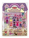 Melissa & Doug- Set Pegatinas Acolchadas Vestidos, Multicolor (12195)