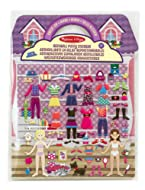 DRESS-UP-THEMED PUFFY STICKER PLAY SET: The Melissa and Doug Dress-Up Puffy Sticker Play Set includes 76 reusable puffy stickersand features a double-sided glossy background. HELPS DEVELOP MULTIPLE SKILLS: Our puffy sticker set is great for developin...