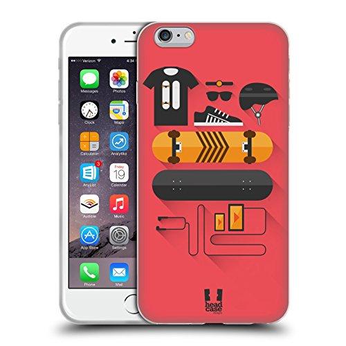 Head Case Designs Skate Kit del Principiante Cover in Morbido Gel e Sfondo di Design Abbinato Compatibile con Apple iPhone 6 Plus/iPhone 6s Plus