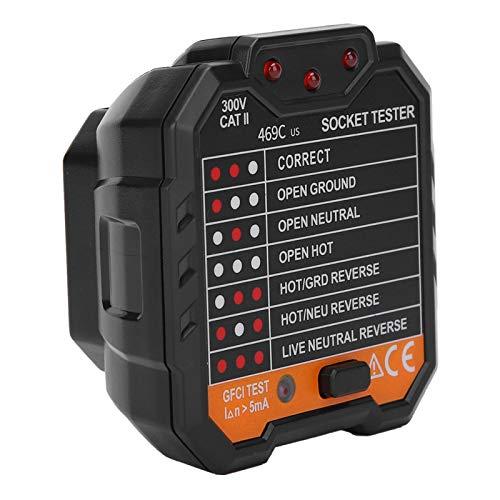 Detector de tomas de corriente eléctrica 48‑250V 45‑65Hz Probador eléctrico portátil con pantalla digital para fábricas de hogares(European regulations)