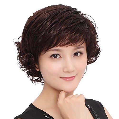 Mütter sind eine Perücke Mädchen weibliche kurze Haare Birne BIRNE head Band Fluffy rasieren Haar-A