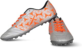 Vector X Thunder Synthetic Indoor Football Shoes (Silver-Orange)