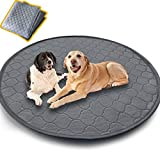 Washable Pet Bed Mat,Reusable Dog Pee Pads Playpen Mat 48' Round,Waterproof Whelping Mat for Dogs,Non Slip Puppy Pee Pads Great Absorbent Dog Bed Mats for Training Traveling,Less Cleanup