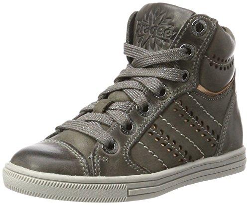 Braqeez Mädchen IGGY2 Hohe Sneaker, Grau (Dark Grey), 32 EU