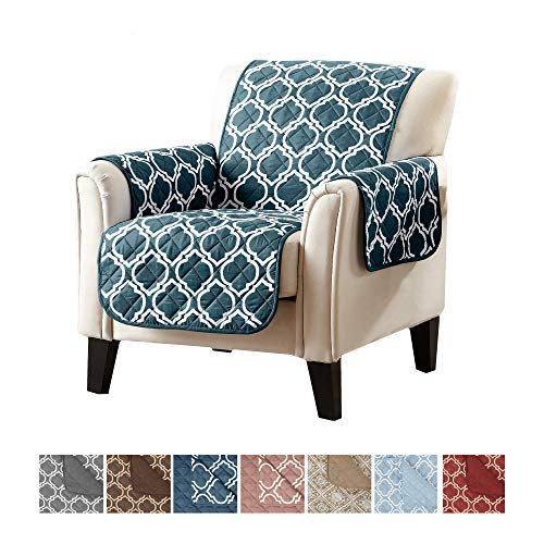 Home Fashion Designs Reversible Arm Chair Cover for Living Room. Oversized,...