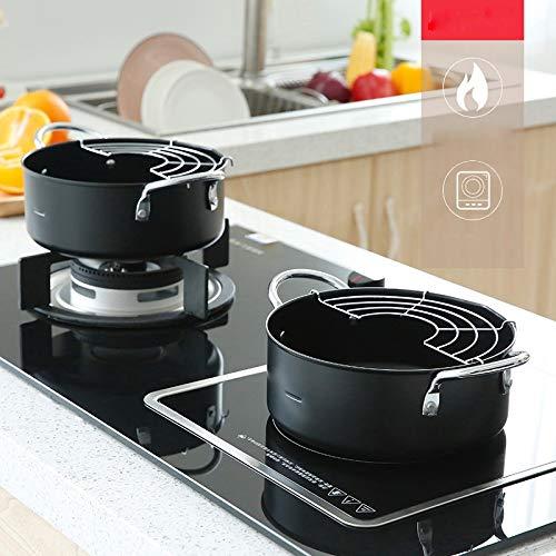DCGSADFW voorraadtank, roestvrijstalen soeppan, hittebestendige dubbele handgrepen, gemakkelijk te reinigen, -20 cm/3 l, multifunctioneel huishouden