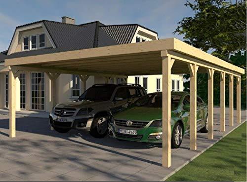 Carport Flachdach AVUS XXXIII 600x900 cm KVH Bausatz Konstruktionsvollholz