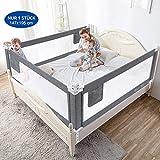 Bettgitter 150cm Bettschutzgitter Kinderbettgitter Babybettgitter Gitter Kinderbett Fallschutz Bett