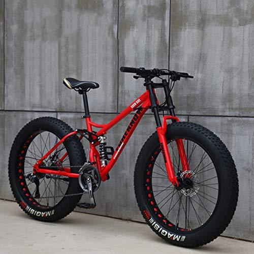 XHJZ Mountain Bike, 24' 26 Pollici Fat Tire Hardtail Mountain Bike, Sospensione Doppia Telaio e...