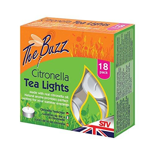 Dicoal STV423 Tea Lights Lot de 18 Bougies parfumées à la citronnelle