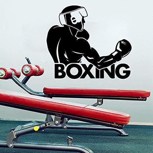 Tianpengyuanshuai Boksen woord bokser muur decal jongen kamer doos gym oefening club winkel decoratie vinyl