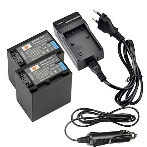 DSTE 2-Pieza Repuesto Batería y DC04E Viaje Cargador kit para Sony NP-FV100...
