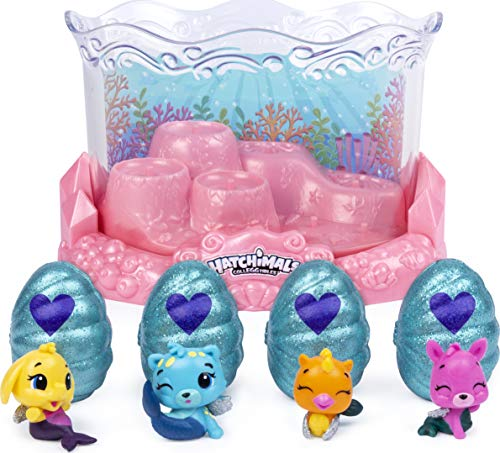 Hatchimals CollEGGtibles, Mermal Magic Underwater Aquarium with 8 Exclusive, for Kids Aged 5 and Up, Only at Amazon
