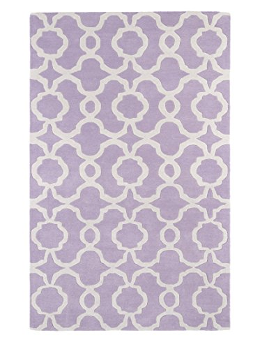 Kaleen Rugs Revolution Collection REV03-90 Lilac Hand Tufted 2' x 3' Rug