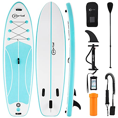 PORTAL Stand Up Paddle Board, 10'x32 x6 Inflatable Paddle Boards with SUP Accessories Including Carry Bag, Hand Pump, Paddle,...
