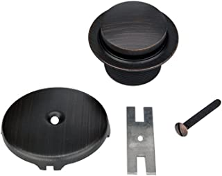 Premier Copper Products D-301ORB Tub Drain Trim and Single-Hole Overflow Cover for Bath Tubs, Oil Rubbed Bronze