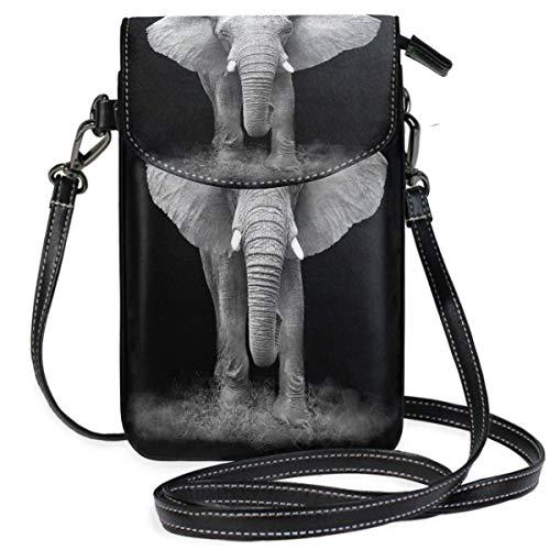 VJSDIUD Cartera con forma de elefante para teléfono móvil para mujer y niña, pequeños bolsos tipo bandolera