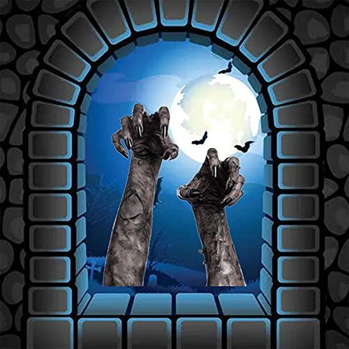 DanLink AFH1125 - Adesivo decorativo per Halloween con mano del diavolo in 3D