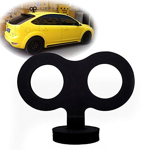 COGEEK 3D Car Wind Up Key, Cute Clockwork Wind Up Key for Back of Car Roof Decoration (Black)