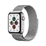 Apple Watch Series 5(GPS + Cellularモデル)- 44mmステンレススチールケースとミラネーゼループ