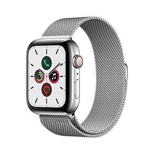 Apple Watch Series 5(GPS Cellularモデル)- 44mmステンレススチールケースとミラネーゼループ