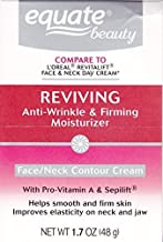 Equate Advanced Reviving Anti Wrinkle and Firming Moisturizer Face and Neck Cream Compare to L'OrealDermo Expertise 1.7 oz.