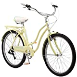 Schwinn Perla Womens Beach Cruiser Bike, 26-Inch Wheels, Yellow