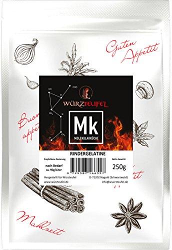 Rindergelatine, Gelatine 220 Bloom, reines Aspik. Aspikpulver, Kaltlöslich, Spitzenqualität aus der Schweiz. Beutel 250g.