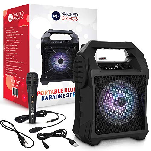 WICKED GIZMOS Portable Karaoke Boombox Machine with Amplifying Speaker and...