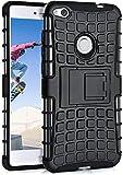 MoEx Huawei P8 Lite 2017 Hülle Silikon Hard-Hülle Schwarz [OneFlow Outdoor Back-Cover] Extrem Stoßfest Schutzhülle Grip Handyhülle für Huawei P8 Lite/Honor 8 Lite Hülle Rückseite Tasche