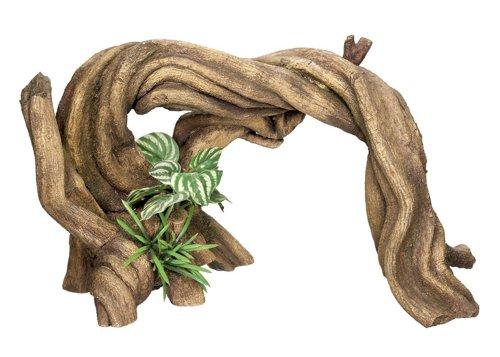 Nobby Bois avec Plantes Décoration pour Aquarium 34,5 x 15 x 19,5 cm