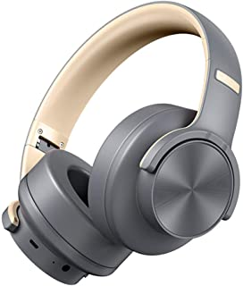 Bluetooth Foldable Headphones Deep Heavy Bass Computer Mobile Phone Wireless Bluetooth Headphone 3D Stereo Over-Ear Noice Cancelling Headsets,Gray