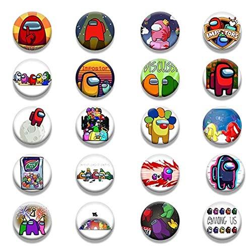 Oulensy 12 Styles Spiel Among Us Abzeichen Für Rucksack DIY Cartoon Icon-Revers-stifte Brosche Für Frauen-Mann-Taschen-Abzeichen Spielzeug Zufall